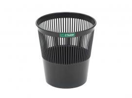 Корзина для мусора СТАММ 9 литров, сетчатая, черная