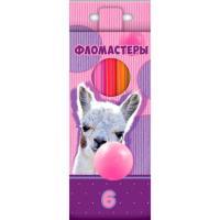 """Фломастеры """"Hatber VK"""", 6 цветов, серия """"Альпака"""", в картонной упаковке"""