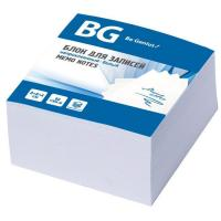 "Блок бумаги для заметок ""BG"", 8х8х4см, белый, непроклеенный, в плёнке"