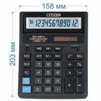 Калькулятор настольный Citizen SDC-888TII 12-разрядный 203x158x31мм, черный