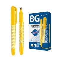 """Текстовыделитель """"BG Vintage"""", 1-4мм, клиновидный наконечник, жёлтый"""
