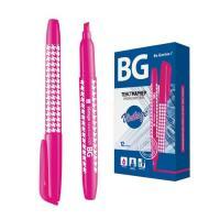 """Текстовыделитель """"BG Vintage"""", 1-4мм, клиновидный наконечник, розовый"""