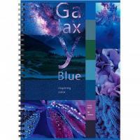 """Тетрадь для записи """"BG"""", 96л, А4, клетка, на гребне, серия """"Galaxy Blue"""""""