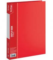 """Папка с файлами Berlingo """"Standard"""" на 20 вкладышей, красная"""