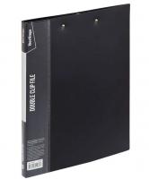 """Папка с 2-мя зажимами Berlingo """"Standard"""", 17мм, 700мкм, черная"""