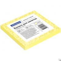 Клейкие листки OfficeSpace 76х76 мм, желтые, 100 листов