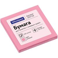 Клейкие листки OfficeSpace 76х76 мм, розовый, 100 листов