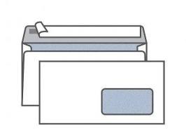 Конверт Е65 KurtStrip (110х220 мм)белый, удаляемая лента, внутренняя запечатка, правое окно 45х90 мм