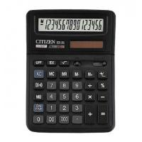Калькулятор 16 разрядов, 14.3х19.2см, черный