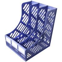 Лоток вертикальный А4, 322мм, 4 секции, синий, пластик, сборный Shuter