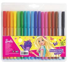 """Фломастеры """"Барби"""", 18 цветов, на водной основе с вентилируемым колпачком, морозостойкие"""
