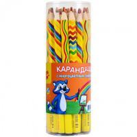 Карандаш с разноцветным грифелем (Мульти-Пульти) Енот и радуга (утолщ. заточ.)