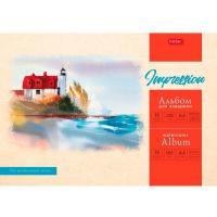 """Альбом для акварели """"Hatber"""", 10л, А4, 220гр/м2, на склейке, серия """"Домик у моря"""""""