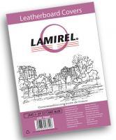 """Обложки картонные для переплета тиснение под кожу А4, 230гр/м2 синие """"Lamirel Delta"""""""