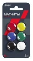 """Магниты для досок """"Hatber"""", 2см, цветные, 6шт в блистере"""