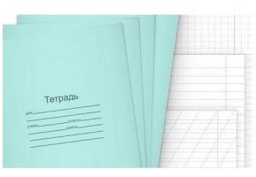 Тетради 12 л. белая (клетка, линия, косая линия)